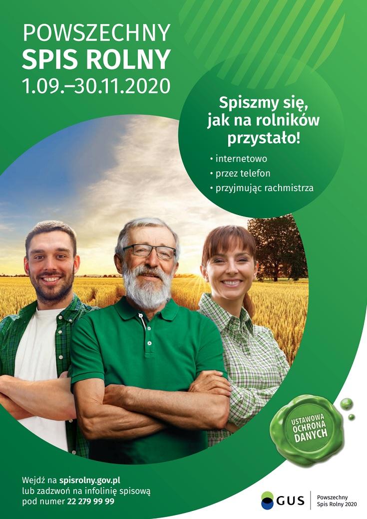 Plakat spis rolny